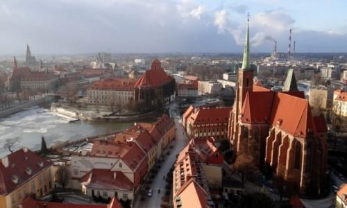 Zdjęcie POLSKA / dolnośląskie / Wrocław / Zmrożony Ostrów Tumski