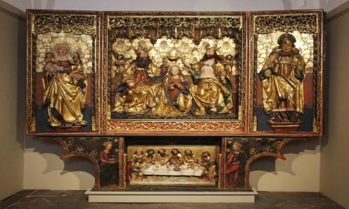 Zdjecie POLSKA / Pomorskie / Gdańsk, Muzeum Narodowe / Ołtarz koronacji Marii