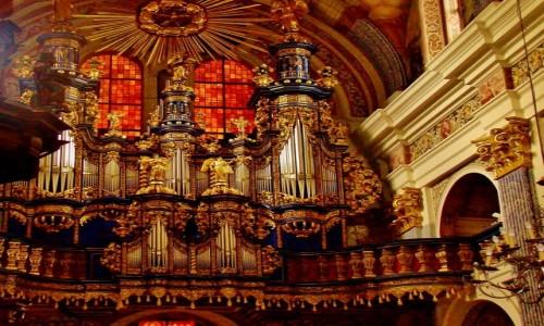 Zdjęcie POLSKA / województwo warmińsko-mazurskie / Święta Lipka / Święta Lipka-barokowe organy z 1721 roku