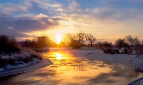 Zdjęcie POLSKA / Lubelszczyzna / Krasnystaw / Rzeczne meandry o wschodzie