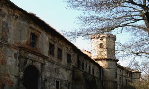 Zdjęcie POLSKA / opolskie / Głogówek / Zewnętrzne mury zamku