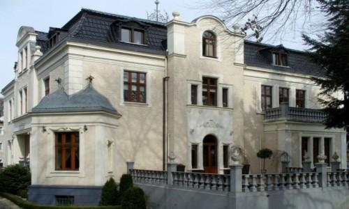 Zdjęcie POLSKA / opolskie / Groszowice / Pałac z XIXw widok od strony parku
