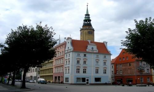 Zdjęcie POLSKA / opolskie / Brzeg / Zabudowa i wieża ratusza w rynku