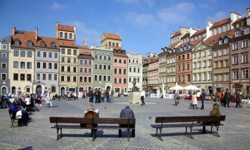 Zdjęcie POLSKA / Warszawa / Rynek Starego Miasta / Salon