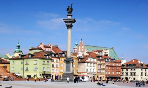 POLSKA / Warszawa / Plac Zamkowy / Kolumna Zygmunta III Wazy