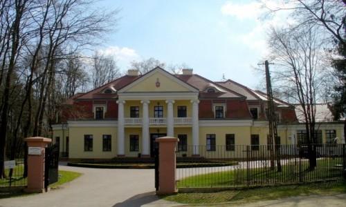 Zdjęcie POLSKA / Łódzkie / Słupia / Fronton pałacu