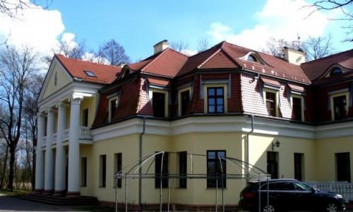 Zdjęcie POLSKA / Łódzkie / Słupia / Pałac od strony parku.