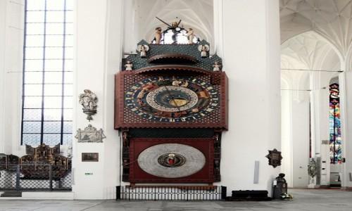 POLSKA / Pomorskie / Gdańsk, Bazylika Mariacka / Zegar astronomiczny