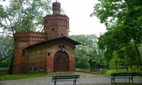 Zdjęcie POLSKA / mazowieckie / Wilanów / Stacja pomp nad jeziorem wilanowskim
