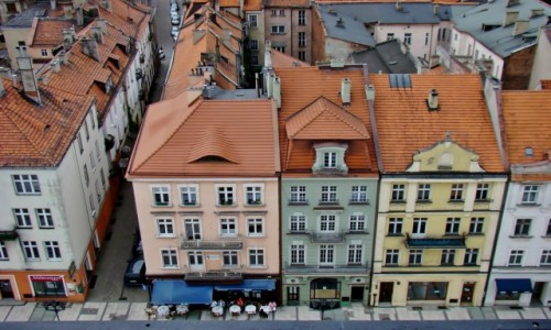 POLSKA / województwo wielkopolskie / Kalisz / Kamienice na Rynku Głównym