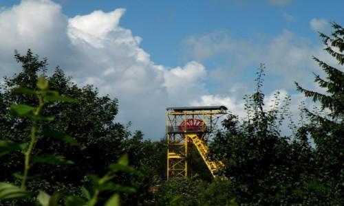 POLSKA / dolnoślaskie / Boguszów-Gorce / Wieża wyciągowa szybu Witold