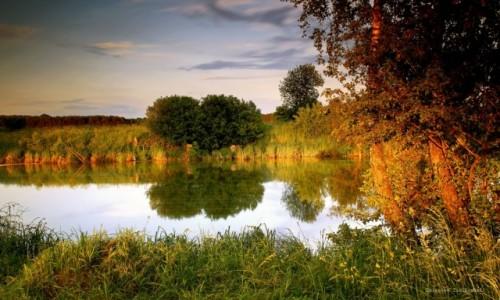 Zdjęcie POLSKA / pow-żniński / Dolina Noteci / Nad rzeką-Kolor zachodu słońca