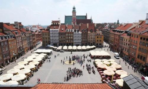 Zdjęcie POLSKA / Mazowsze / Warszawa, Rynek Starego Miasta / Widok z Muzeum Warszawy
