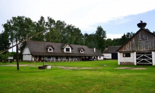 Zdjęcie POLSKA / Podlasie / Pentowo / Europejska wieś bociana