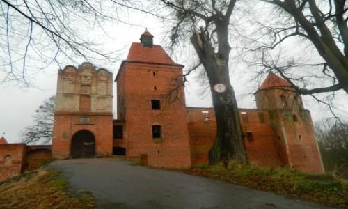 POLSKA / Pojezierze Iławskie. / Szymbark koło Iławy. / Szymbark - zamek gotycki z XIV w.