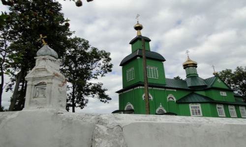 POLSKA / Podlasie / Trześcianka / Z serii: obrazki z Podlasia - cerkiew w Trześciance