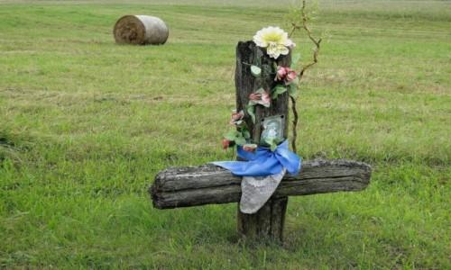 POLSKA / Podlasie / Soce / Z serii: obrazki z Podlasia - krzyż przydrożny