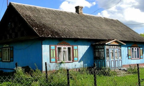 POLSKA / Podlasie / Nowoberezowo / Z serii: podlaskie klimaty - chata w Nowoberezowie