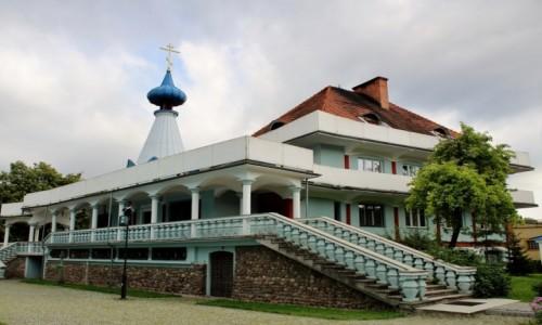 POLSKA / województwo podlaskie / Bielsk Podlaski / Cerkiew św.Michała Archanioła - plebania
