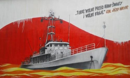 Zdjecie POLSKA / pomorskie / Reda / Mural na rozdzielni WN.