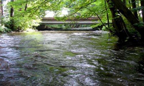 Zdjecie POLSKA / pomorskie / Reda / Rzeka pod mostem drogowym  na Puck