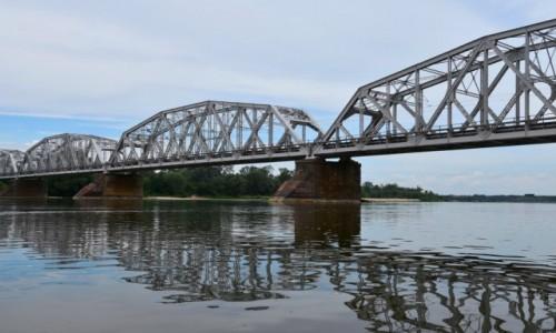 Zdjecie POLSKA / woj. lubelskie / tuż przed Dęlinem / Most kolejowy w Dęblinie