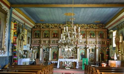 Zdjęcie POLSKA / pow. Nowosądecki, gmina Muszyna. / Leluchów. / Leluchów - Cerkiew św. Dymitra - wnętrze.