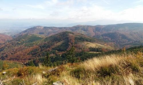 Zdjęcie POLSKA / Beskid Śląski / Widok z Malinowskiej Skały / Jesień w górach