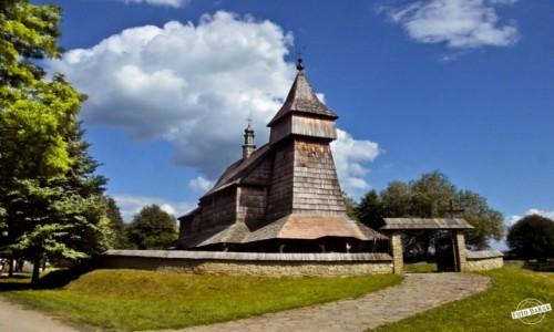 Zdjecie POLSKA / - / Skansen, Sanok / Kościół z Bączala Dolnego
