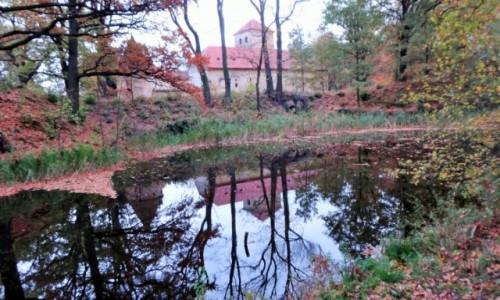 Zdjecie POLSKA / Dolina Henrykowska / Witostowice / Zamek na Wodzie w jesiennej aurze