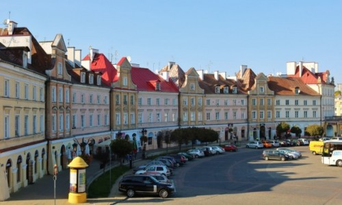 Zdjęcie POLSKA / - / Lublin / Kamieniczki Placu Zamkowego