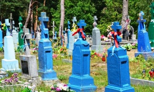Zdjecie POLSKA / Podlaskie / Zubacze / Kolorowy cmentarz