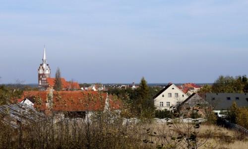 Zdjęcie POLSKA / opolskie / Niemodlin / Widok na miasto, ze wzgórza cmentarnego.