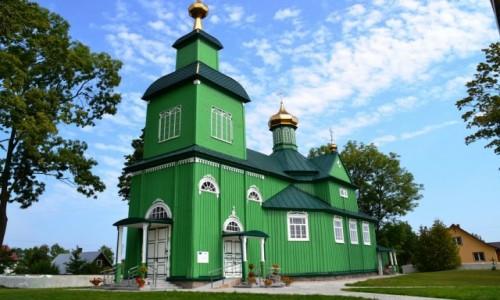 Zdjecie POLSKA / Podlaskie / Trześcianka / Drewniane cerkwie Podlasia - na zielono