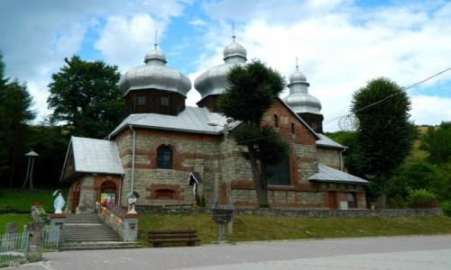 Zdjęcie POLSKA / pow. nowosądecki. / gmina Muszyna. / Żegiestów - kościół św. Anny i Sw. Michała Archanioła.