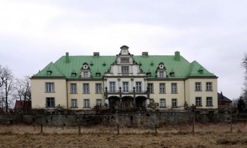 Zdjecie POLSKA / opolskie / Frączków / Pałac od strony parku
