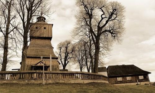 POLSKA / Podkarpacie / Blizne / Na szlaku architektury drewnianej