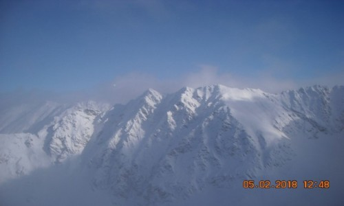 Zdjecie POLSKA / szczyt w Dolinie Gąsienicowej w Tatrach Wysokich /  Kościelec Wysokość n.p.m. 2 155 m . / Tatry - widok z Kościelca na okoliczne szczyty