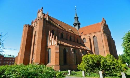 POLSKA / woj.pomorskie. / pow. Tczew. / Pelplin - Bazylika katedralna Wniebowzięcia Najświętszej Maryi Panny.