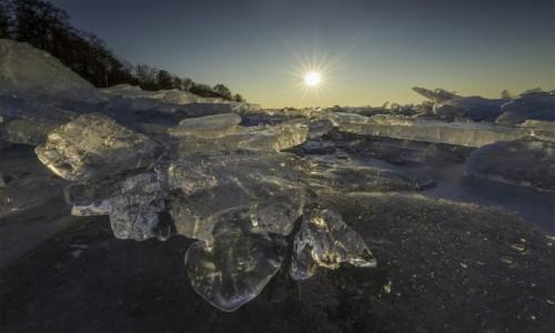 Zdjecie POLSKA / warmia  / Tolkmicko  / Zalew Wislany zima