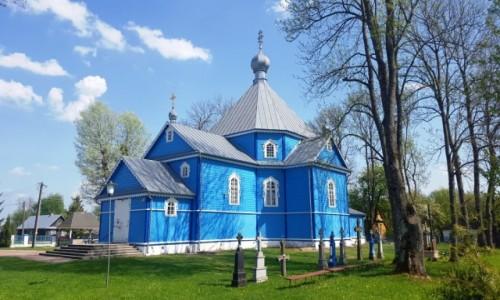Zdjecie POLSKA / Podlaskie / Stary Kornin / Na niebiesko
