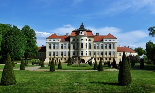 Zdjęcie POLSKA / Wielkopolska / Rogalin / W ogródku u Raczyńskich