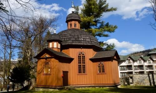 Zdjecie POLSKA / Małopolska / Krynica Zdrój / Kościół Przemienienia Pańskiego i Matki Boskiej Częstochowskiej