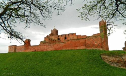 POLSKA / Kujawsko-Pomorskie. / Radzyń Chełmiński. / Ruiny zamku Krzyżackiego w Radzyniu Chełmińskim 3.