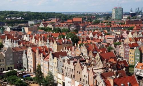 Zdjecie POLSKA / Pomorze / Gdańsk, Bazylika Mariacka / z najwyższej wieży bazyliki...