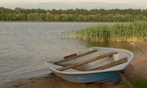 POLSKA / Puszcza Romincka / Gołdap jezioro czerwone / łódź