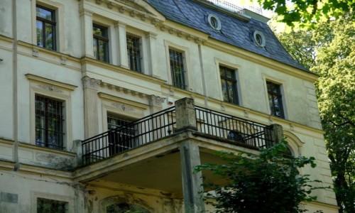 Zdjecie POLSKA / dolnoślaskie / Stary Lesieniec / Fronton pałacu rodu von Czetritz .