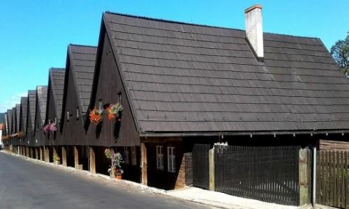Zdjęcie POLSKA / dolnoślaskie / Chełmsko Śląskie / Inne ujęcie domów tkaczy