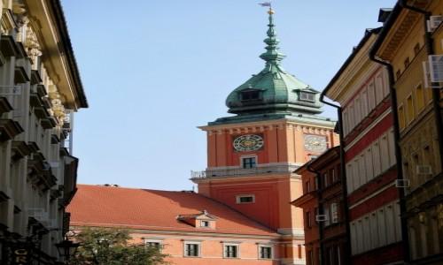 Zdjęcie POLSKA / mazowieckie / Warszawa / Wieża zamku Królewskiego
