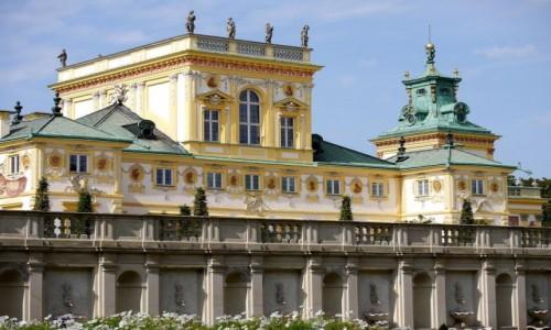 Zdjęcie POLSKA / mazowieckie / Warszawa / Pałac Wilanów, od strony parku
